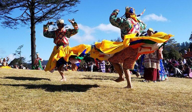 Druk Wangel festival dancers Bhutan