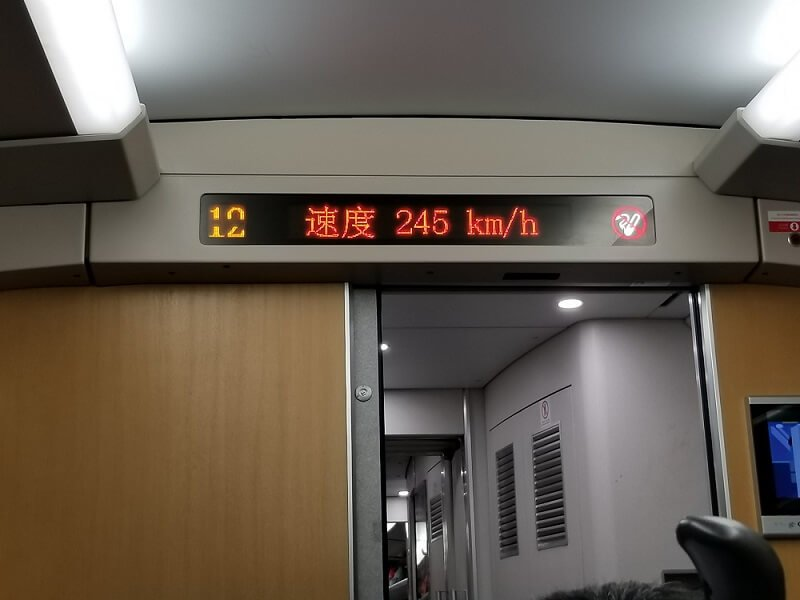 high speed bullet trains in China