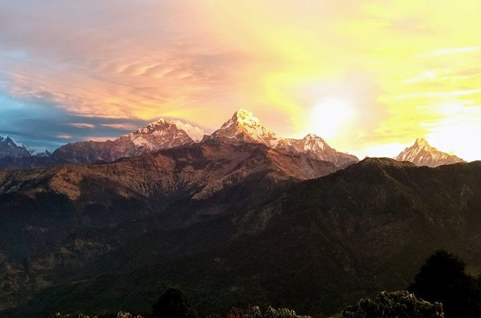 Annapurna Ghorepani Poon Hill sunrise