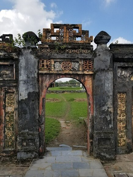 Hue imperial city ruins