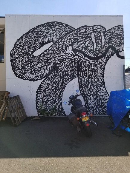 Snake mural by Spencer Keeton Cunningham
