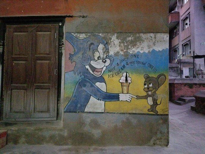 Tom and Jerry art in Kathmandu