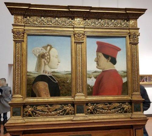 Uffizi Piero della Francesca The Duke and Duchess of Urbino