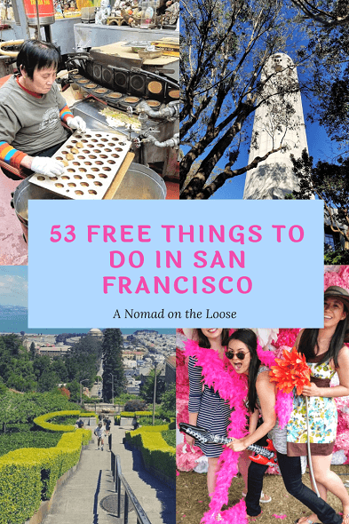 53 Free Things to Do in San Francisco pin
