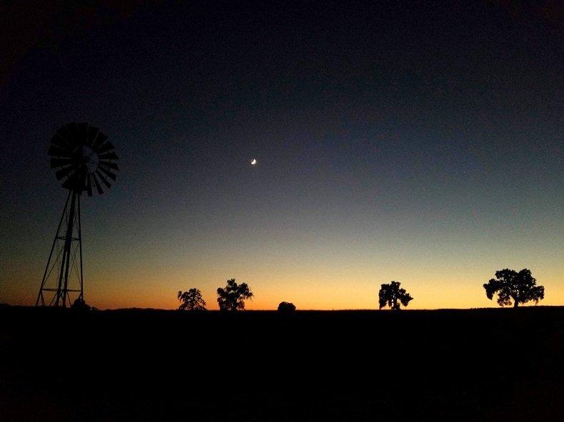 jolon campground dusk
