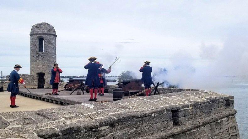 Castillo de San Marcos cannon firing