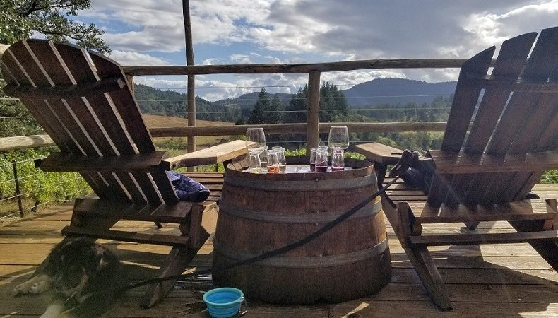 Lumos Winery Willamette Valley Adirondack chair