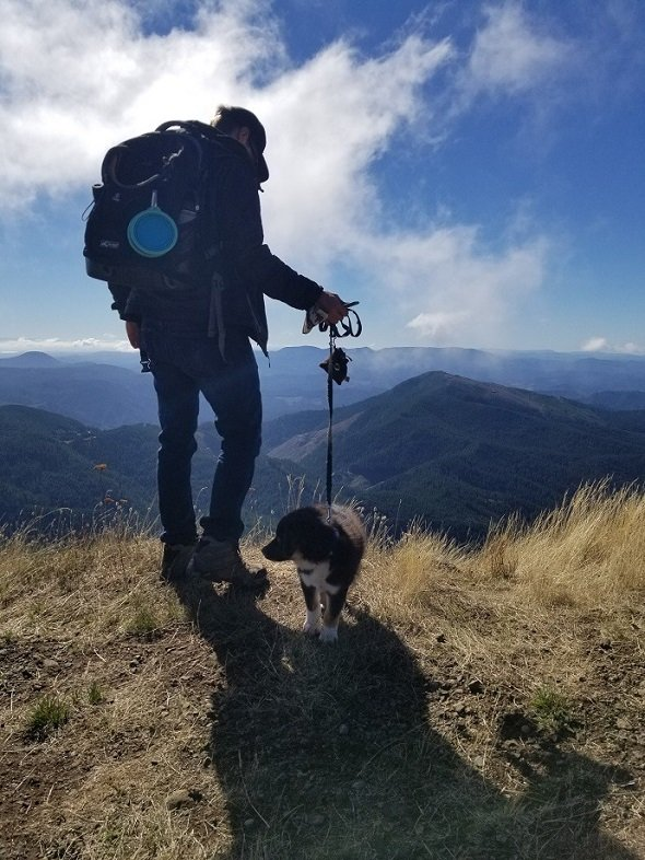 Marys Peak Corvallis with pup