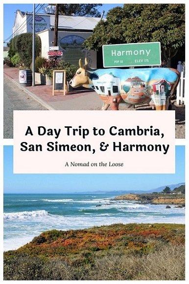 A Day Trip to Cambria, San Simeon, & Harmony pin